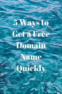 5 Ways to Get a Free Domain Name Quickly